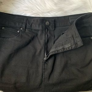 ASOS Jeans - ASOS Drop Crotch Jeans In Black With Knee Rips